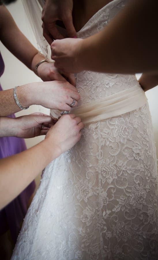 Preparazione della sposa fotografia stock