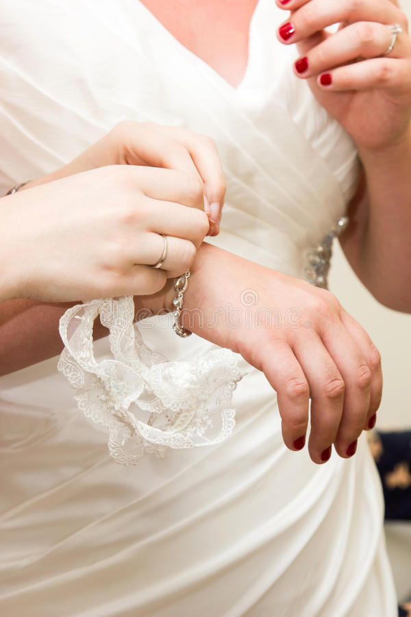 Preparazione della sposa fotografie stock