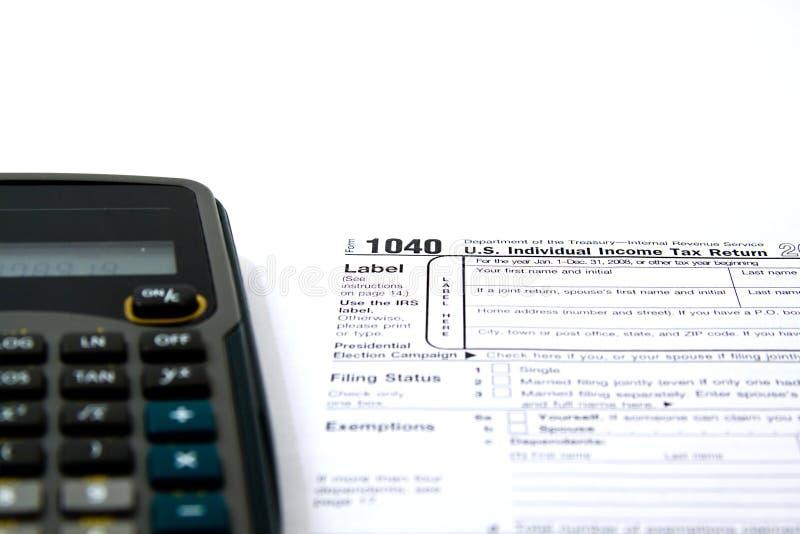 Preparazione delle tasse fotografia stock libera da diritti