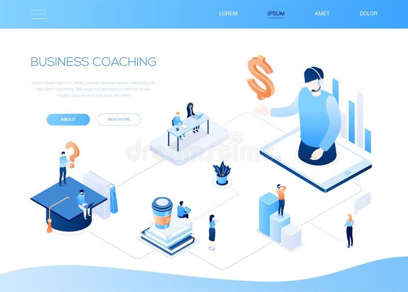 Preparazione di affari - insegna isometrica variopinta moderna di web illustrazione di stock