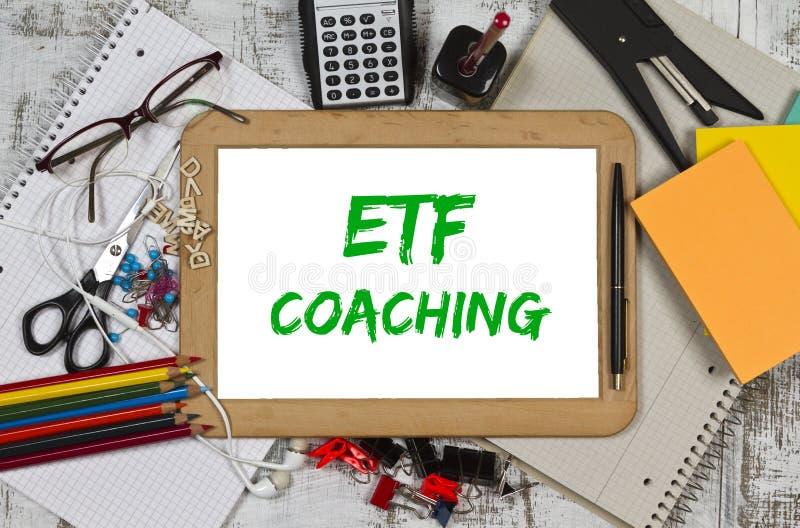 Preparazione di ETF fotografia stock libera da diritti
