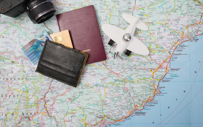 Preparazione di viaggio fotografia stock