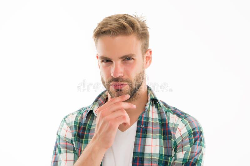 Preparazione per la guarnizione comoda Setola perfetta che sistema le punte Parrucchiere e autocura del barbiere Modo maschio e fotografia stock libera da diritti
