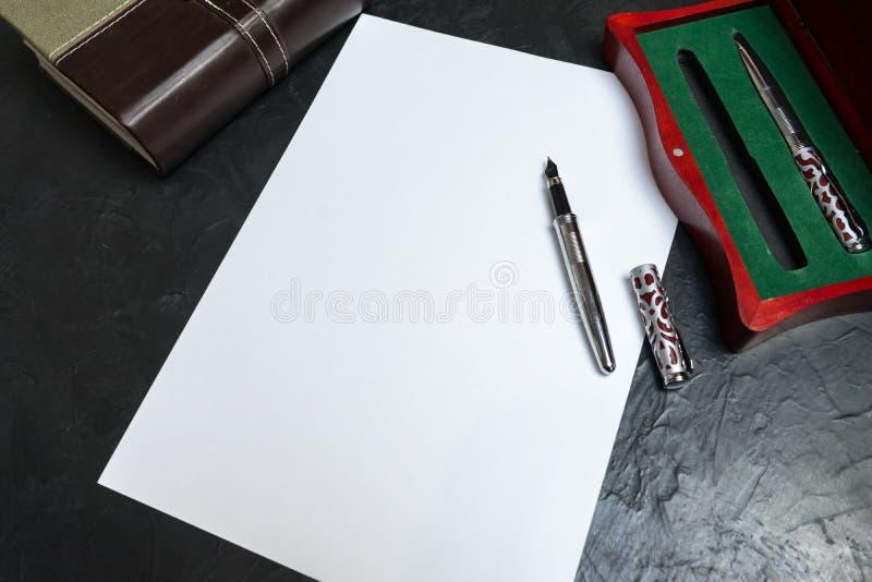 Preparazione scrivere volontà Posto per il vostro testo fotografia stock libera da diritti