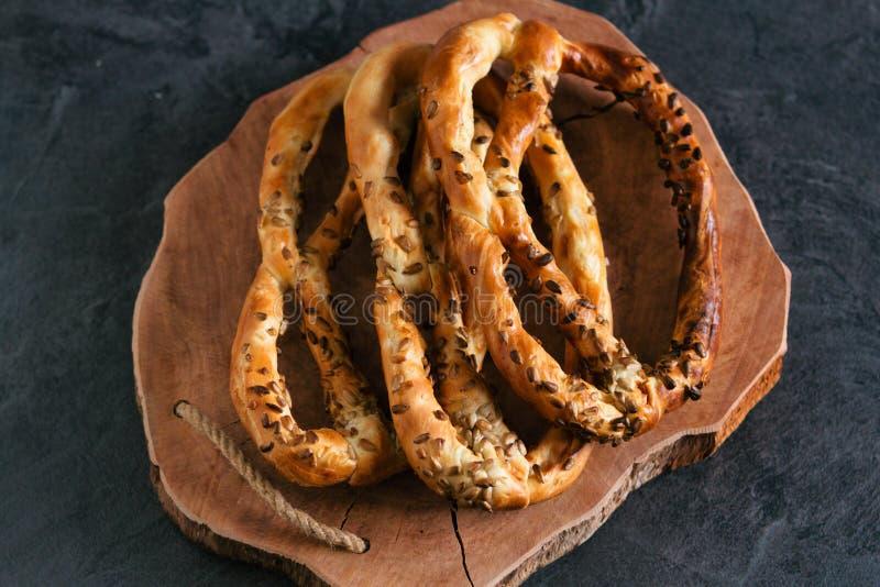 Preparazioni fresche deliziose con semi di girasole fotografie stock libere da diritti