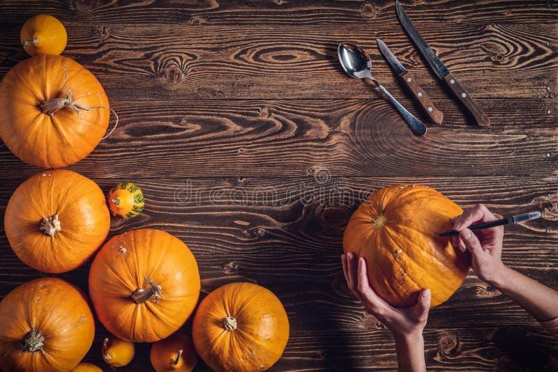 Preparazioni a Halloween fotografia stock libera da diritti