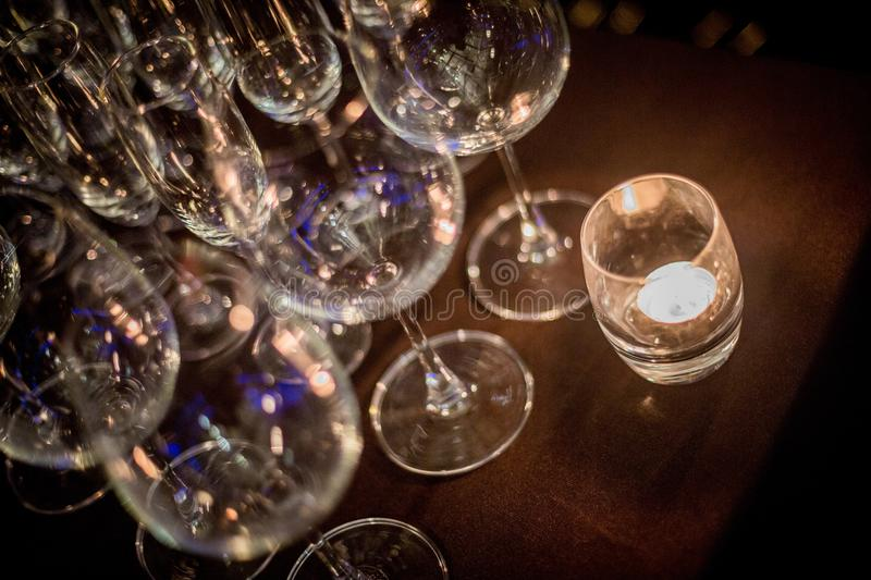 Download Prepare for celebrations stock photo. Image of wine, candle - 83705692