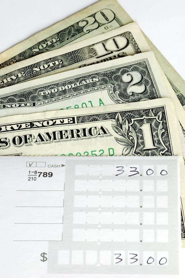 Download Prepare The Deposit Slip To Make A Bank Deposit Royalty Free Stock Photography - Image: 12109997