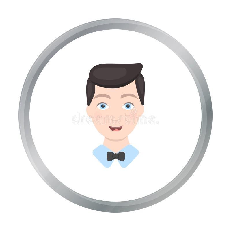 Prepare el icono del hombre del ejemplo del vector para el web y el móvil stock de ilustración