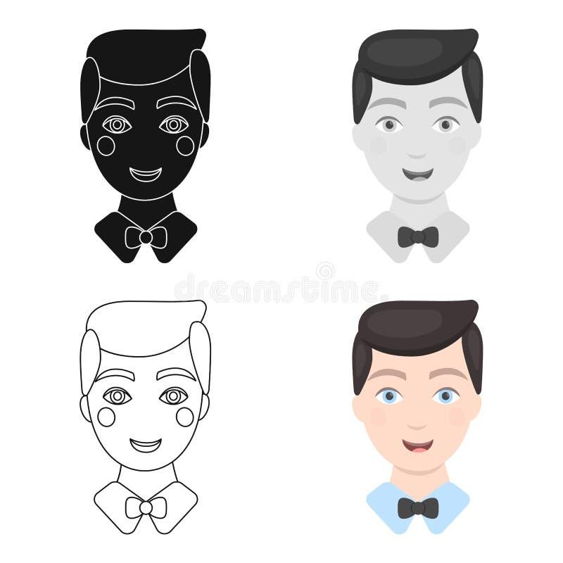 Prepare el icono del hombre del ejemplo del vector para el web y el móvil ilustración del vector