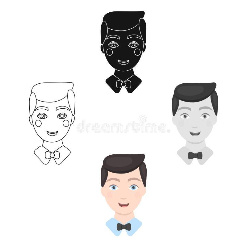 Prepare el icono del hombre del ejemplo del vector para el web y el m?vil libre illustration