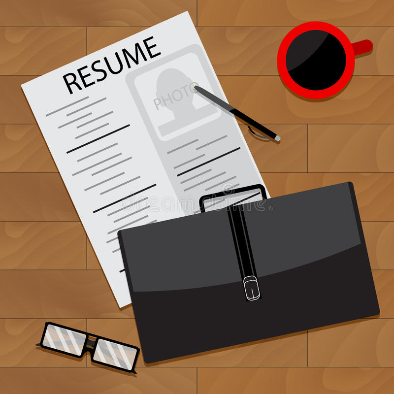 Prepare for interview. Vector interview preparation, illustration of research interview royalty free illustration