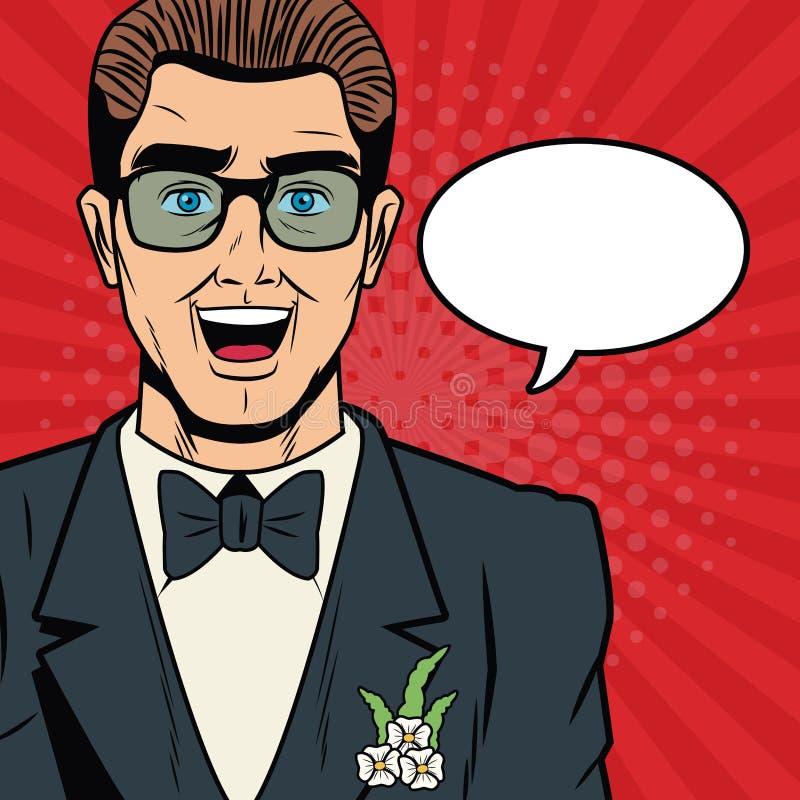Prepare la seguridad de Internet de la historieta del arte pop, baniking en línea libre illustration