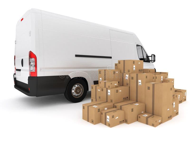 Prepare shipping. 3D Rendering stock illustration