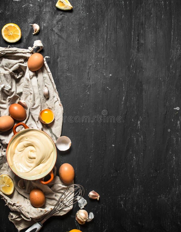 Prepare uma maionese tradicional fotografia de stock royalty free