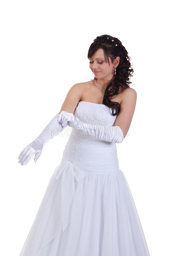 Prepare for the wedding. Bride is preparing for the wedding royalty free stock photos