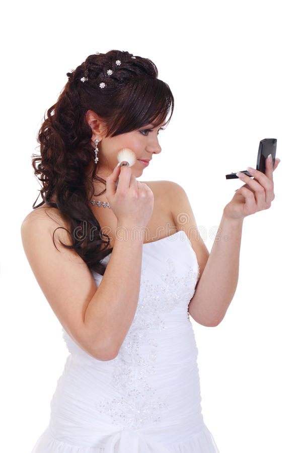 Prepare for the wedding. Bride is preparing for the wedding royalty free stock images