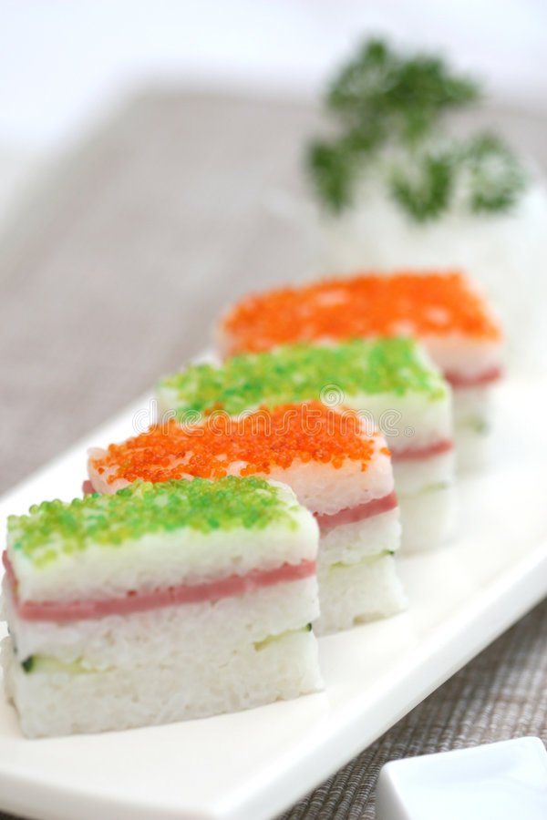 Free Prepared And Delicious Sushi Taken In Studio Royalty Free Stock Photos - 7709278