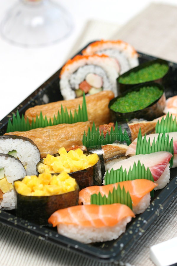 Free Prepared And Delicious Sushi Taken In Studio Stock Images - 7709524