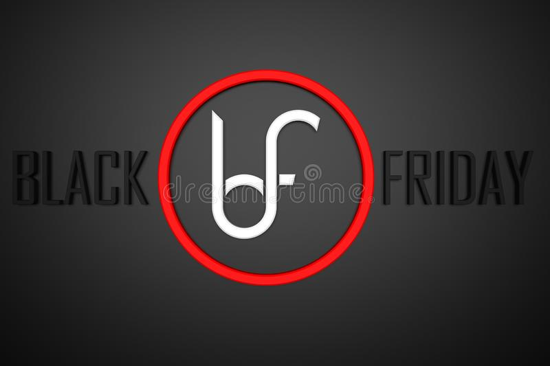 Prepared for the big sales of Black Friday royalty free stock images