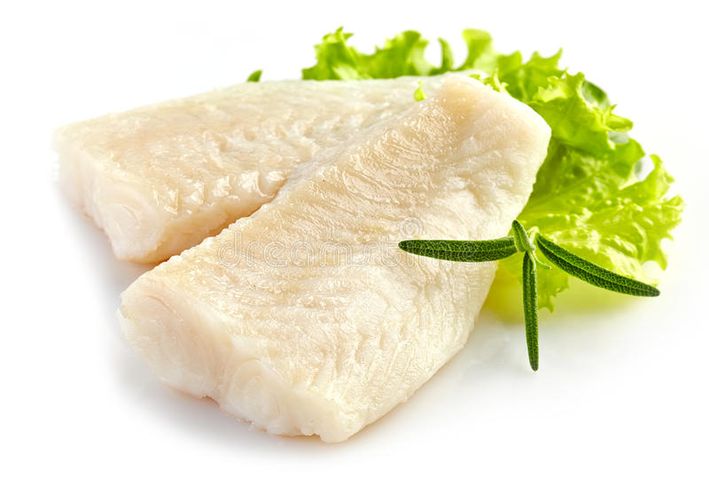 Prepared fish fillet pieces royalty free stock images