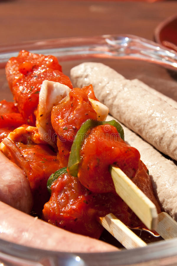 Download Prepared Meat For The Barbecue Stock Photo - Image: 14923948