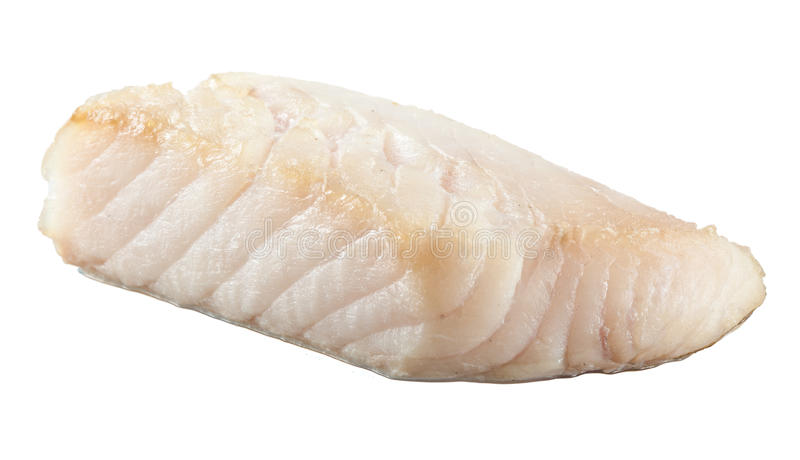 Prepared pangasius fish fillet piece royalty free stock photography