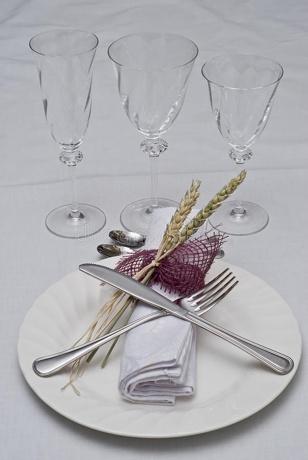 Download Prepared table to eat. stock image. Image of guests, fork - 12776447