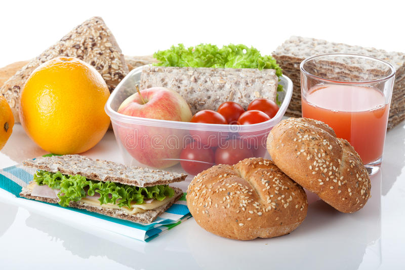 Prepared takeaway meal. Healthy meal prepared to take away, background royalty free stock photos