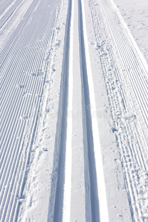 Winter Ski Track Stock Photography