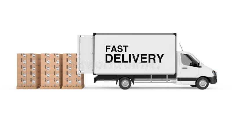 Prepari il concetto di trasporto Ghiottoneria industriale commerciale bianca del carico royalty illustrazione gratis