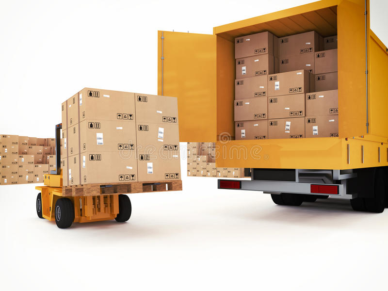 Prepari il trasporto illustrazione di stock