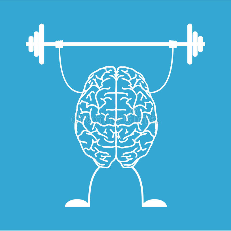 Prepari il vostro cervello immagine stock