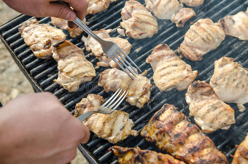 Download Preparing Barbecue Stock Image - Image: 27357561