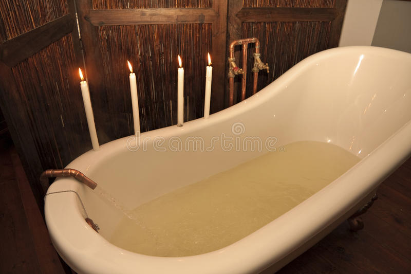 Download Preparing a bath stock image. Image of pouring, romantic - 15457451
