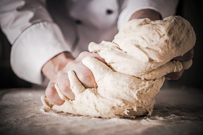 Bread Dough Preparation royalty free stock photo