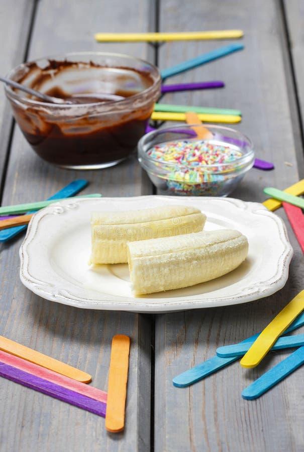 Download Preparing Chocolate Dipped Bananas Dessert Stock Photo - Image of fresh, chocolate: 39508074