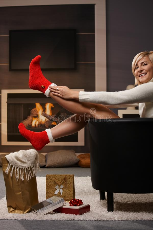Download Preparing for Christmas stock photo. Image of face, decorations - 11638770