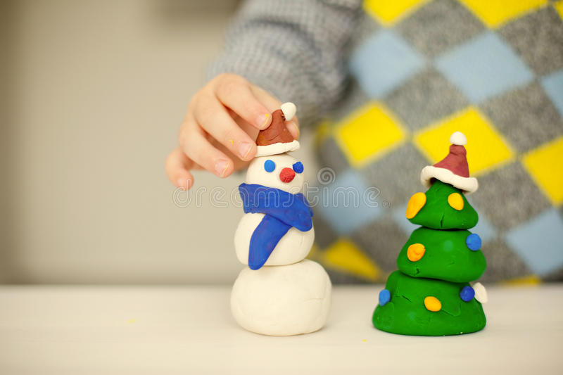 Preparing for the christmas stock images