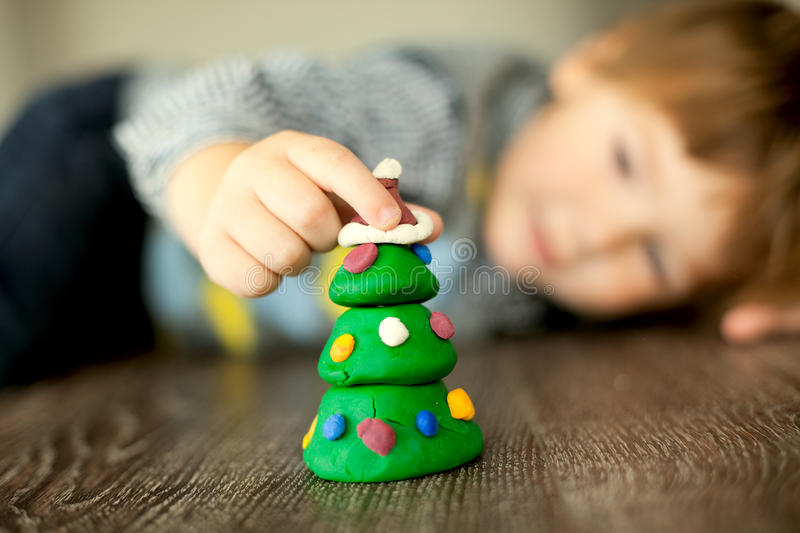 Preparing for the christmas royalty free stock images
