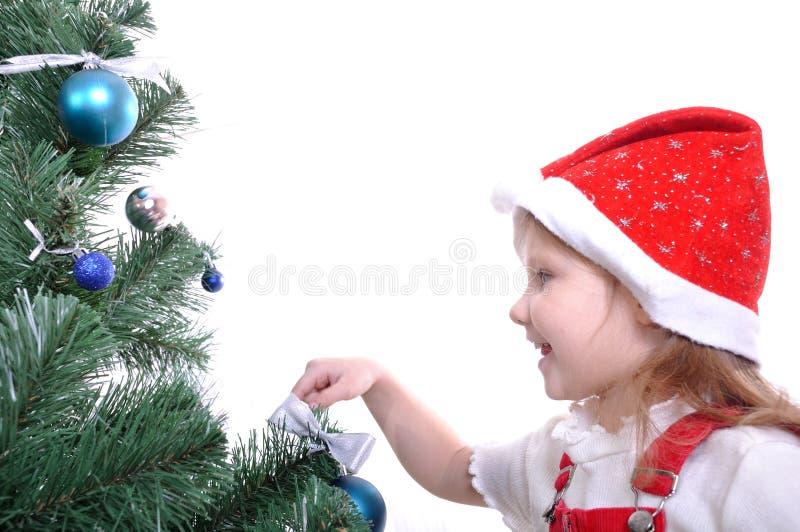Preparing a Christmas tree royalty free stock photos