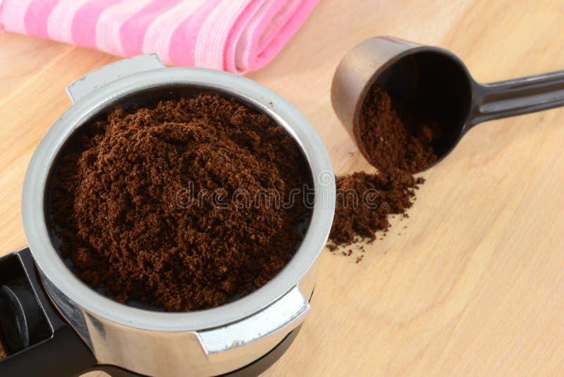Preparing coffee stock image