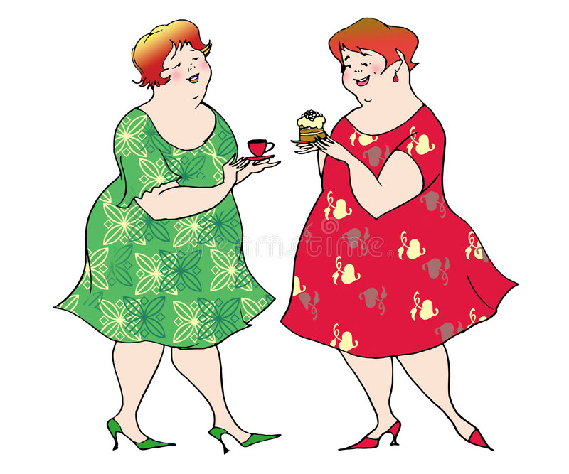Preparing for a diet royalty free illustration