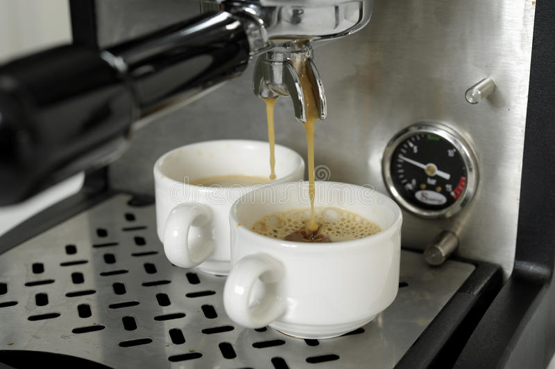 Download Preparing Expressos With A Expresso Machine Stock Image - Image of ingredient, event: 23709961