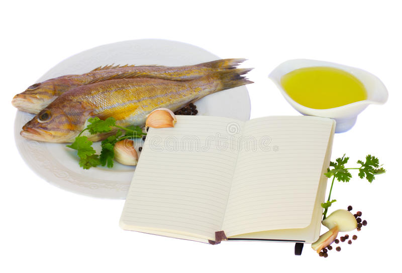 Download Preparing fish stock photo. Image of book, card, cookery - 25565874