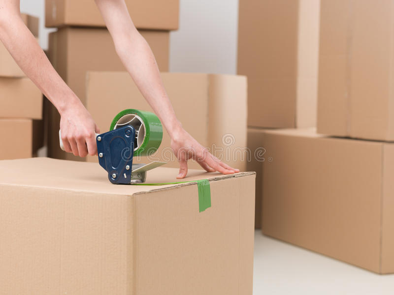 Preparing goods for dispatch royalty free stock photography