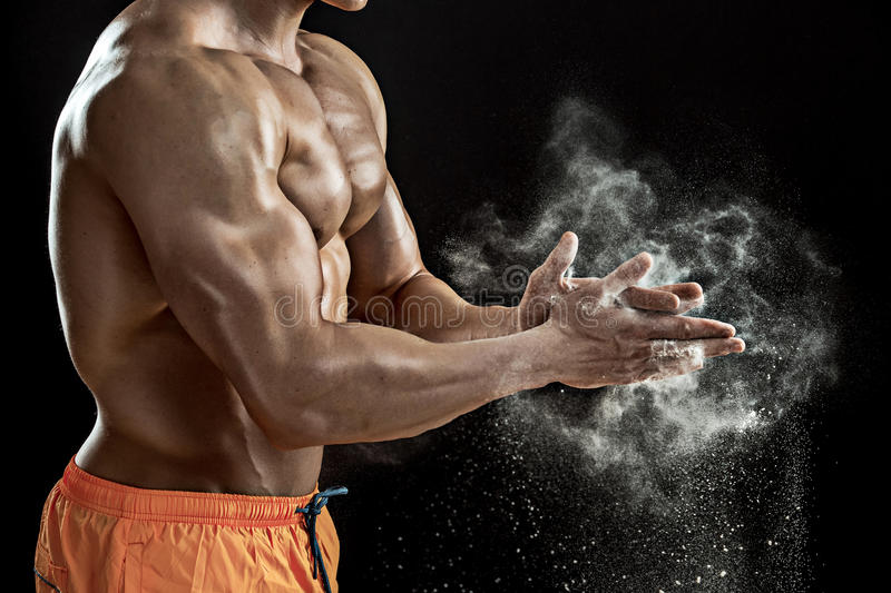 Preparing Hands For Lifting Weights Stock Image - Image of club ...