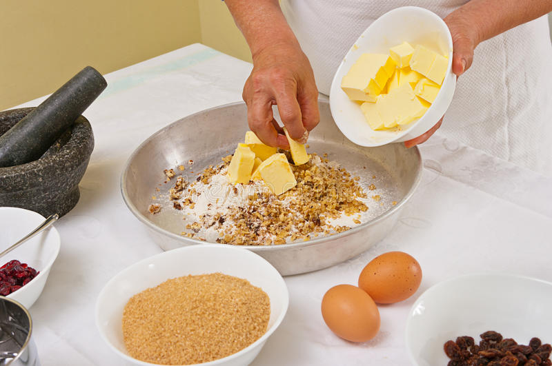 Preparing Homemade Cookies Royalty Free Stock Photography