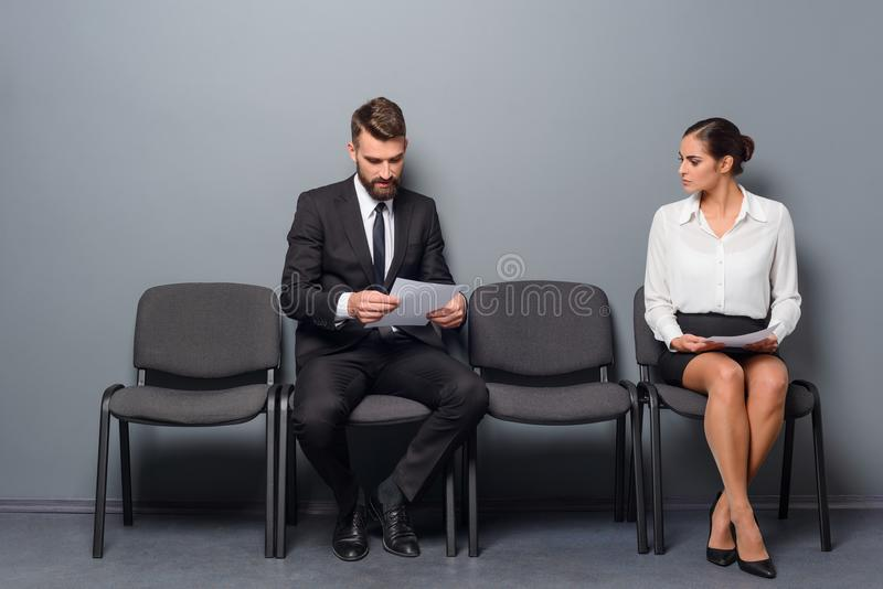 Preparing for an interview royalty free stock photos