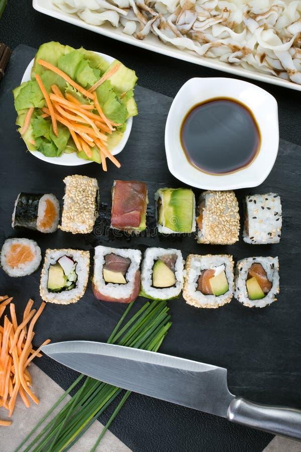 Preparing japanese sushi royalty free stock image